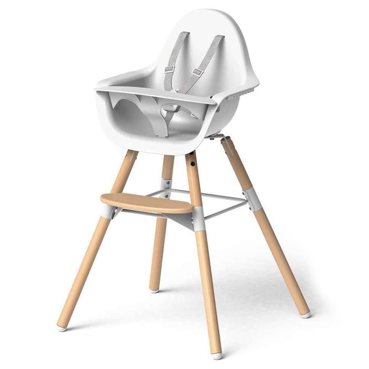 Chaise haute Chaise Haute Evolu 2 Pack Complet - Bois et Blanc Chaise Haute Evolu 2 Pack Complet - Bois et Blanc