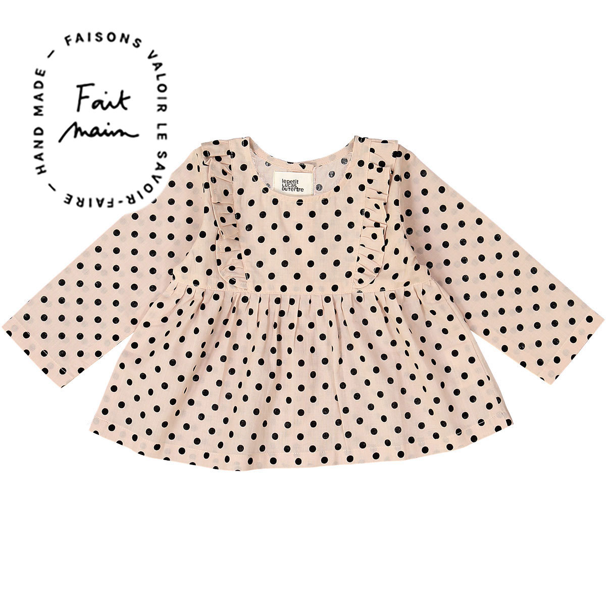 Hauts bébé Blouse Joe - Black Dots - 2 Ans Blouse Joe - Black Dots - 2 Ans