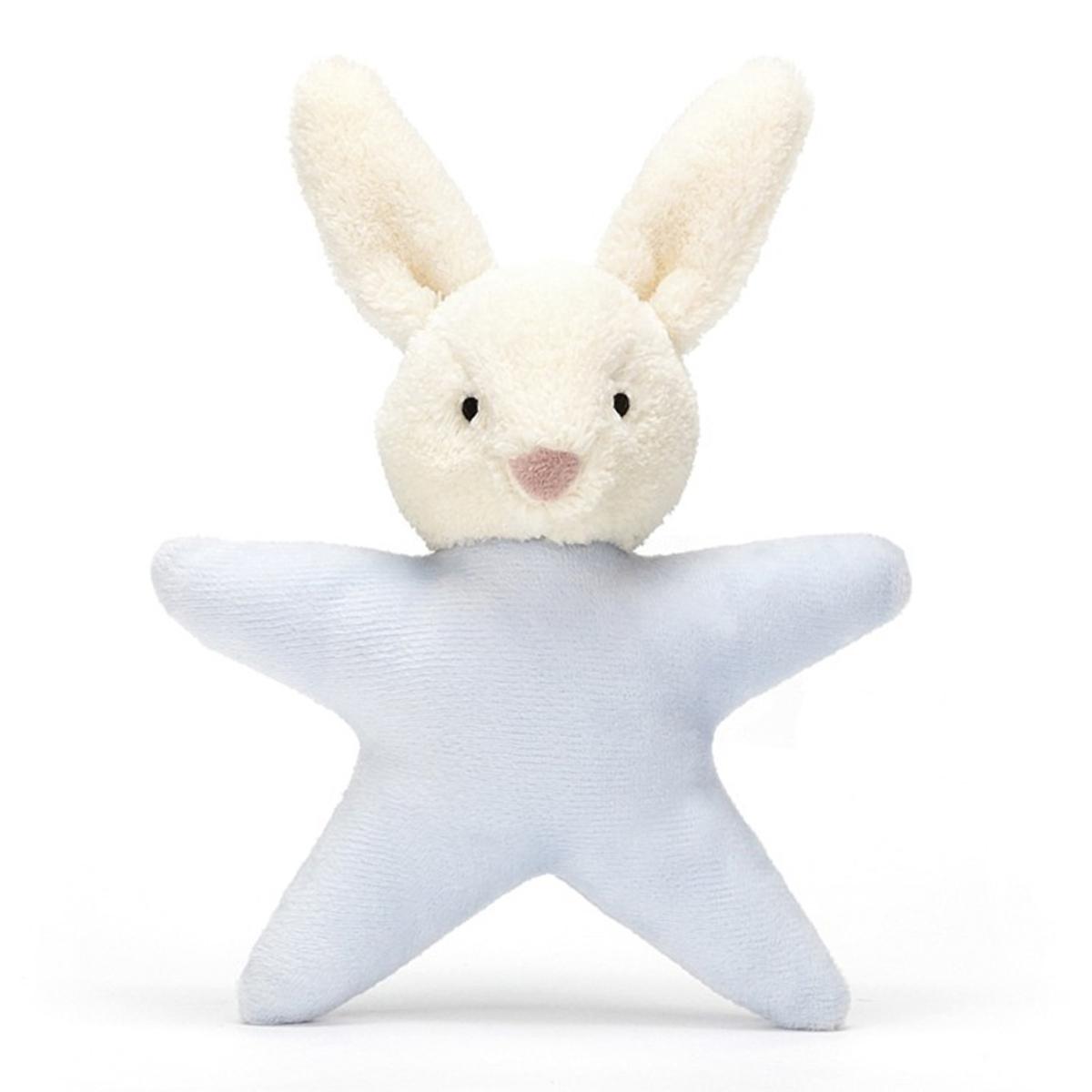 Little Jellycat Star Bunny Blue Rattle