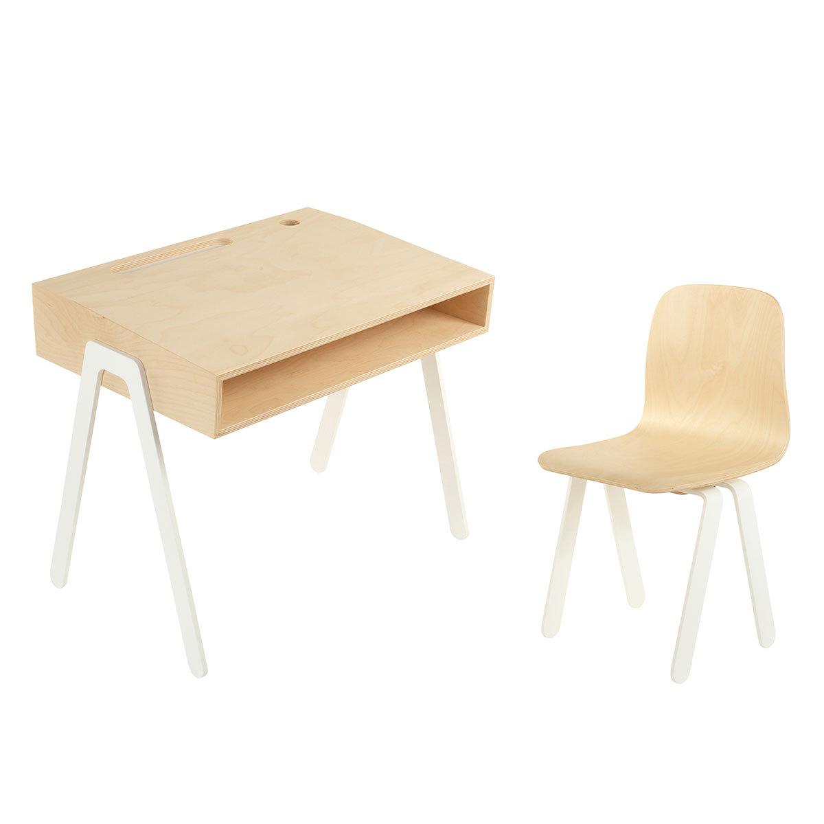 Table Chaise Set Bureau Blanc 2