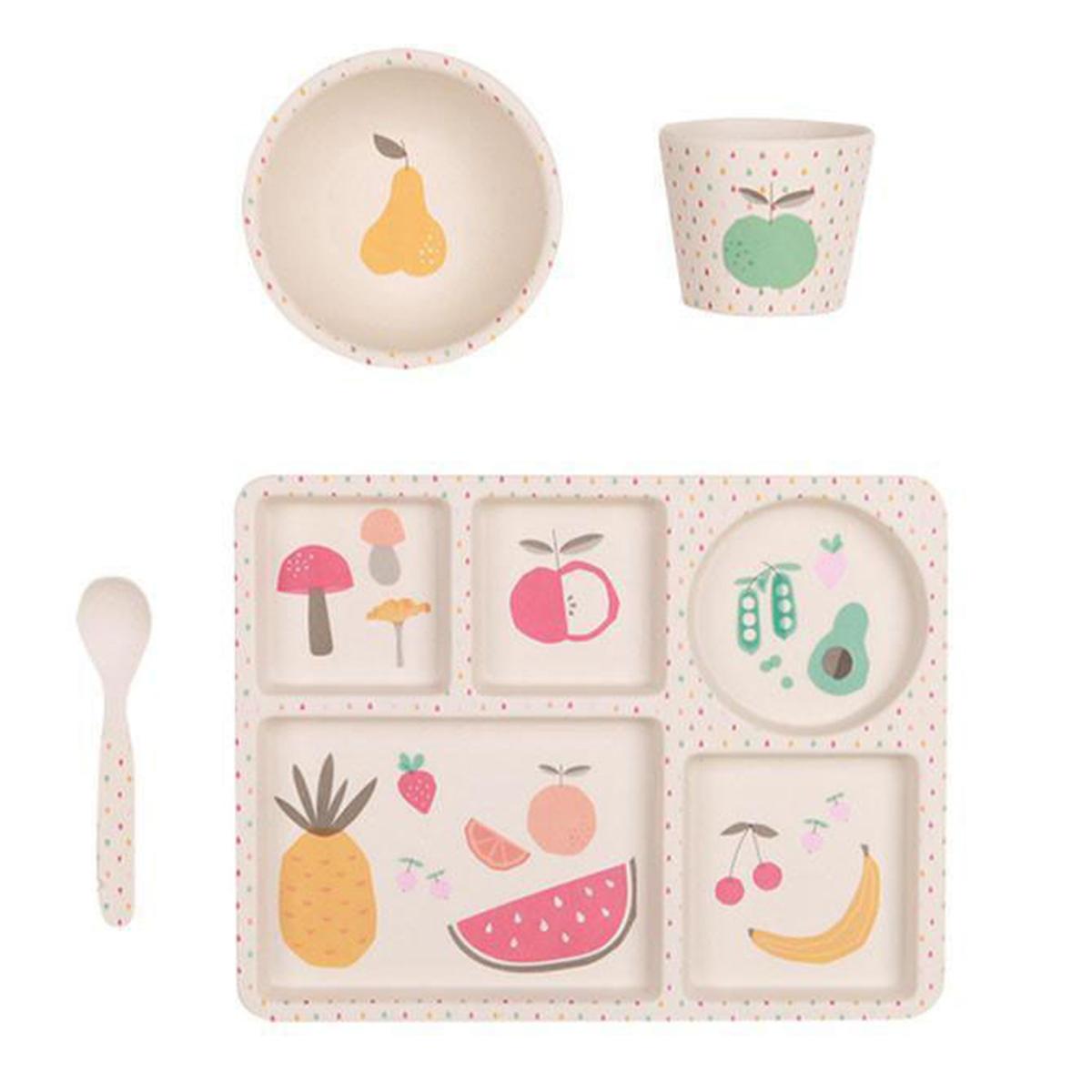 Coffret repas Coffret de Vaisselle - Fruits & Légumes Coffret de Vaisselle - Fruits & Légumes