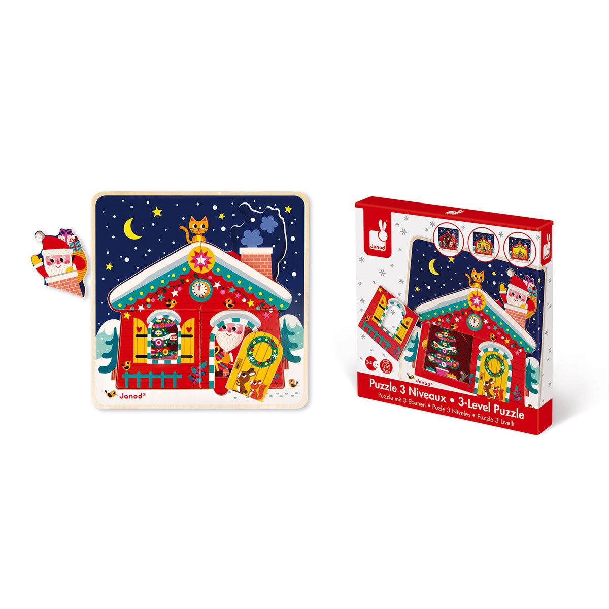 Mes premiers jouets Puzzle 3 Niveaux - La Nuit de Noël Puzzle 3 Niveaux - La Nuit de Noël