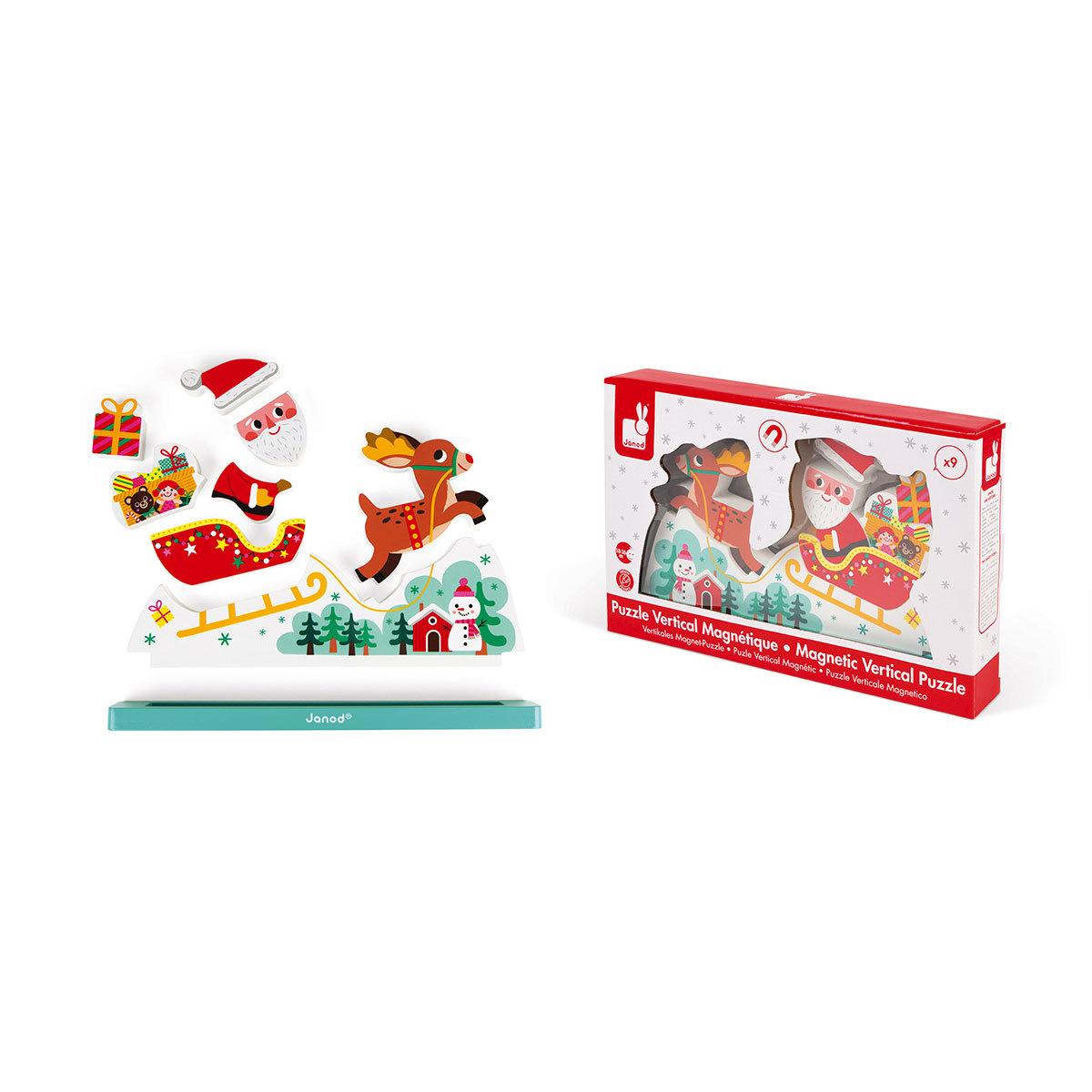 Mes premiers jouets Puzzle Vertical Magnétique - Le Traîneau du Père-Noël Puzzle Vertical Magnétique - Le Traîneau du Père-Noël
