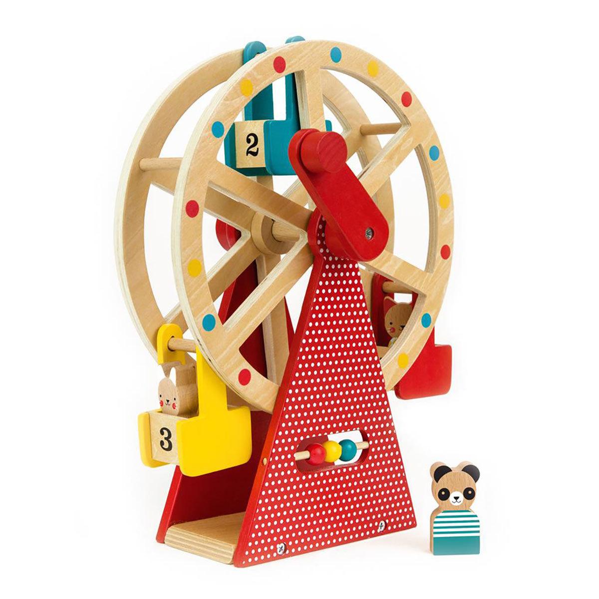 Mes premiers jouets Grande Roue en Bois avec Figurines Grande Roue en Bois avec Figurines