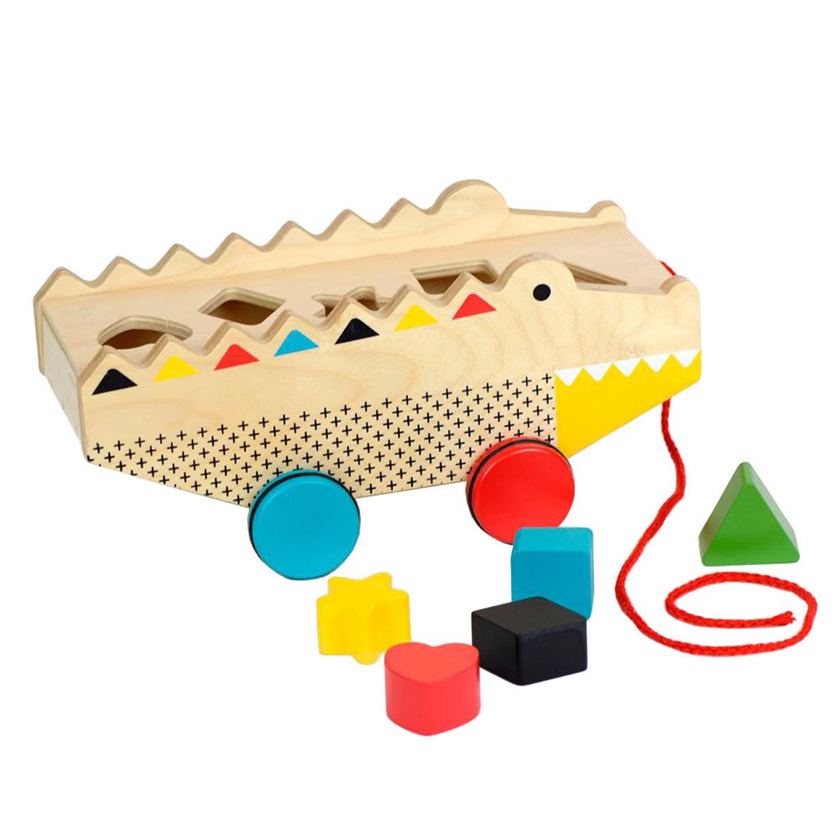 Mes premiers jouets Alligator à Tirer et à Ranger Alligator à Tirer et à Ranger