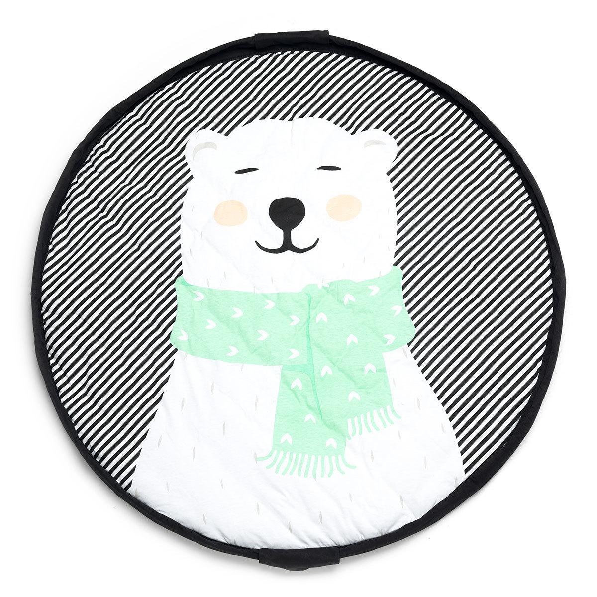 Rangement jouet Sac à Jouet / Tapis de Jeu Ø 120 cm - Polar Bear Sac à Jouet / Tapis de Jeu Ø 120 cm - Polar Bear