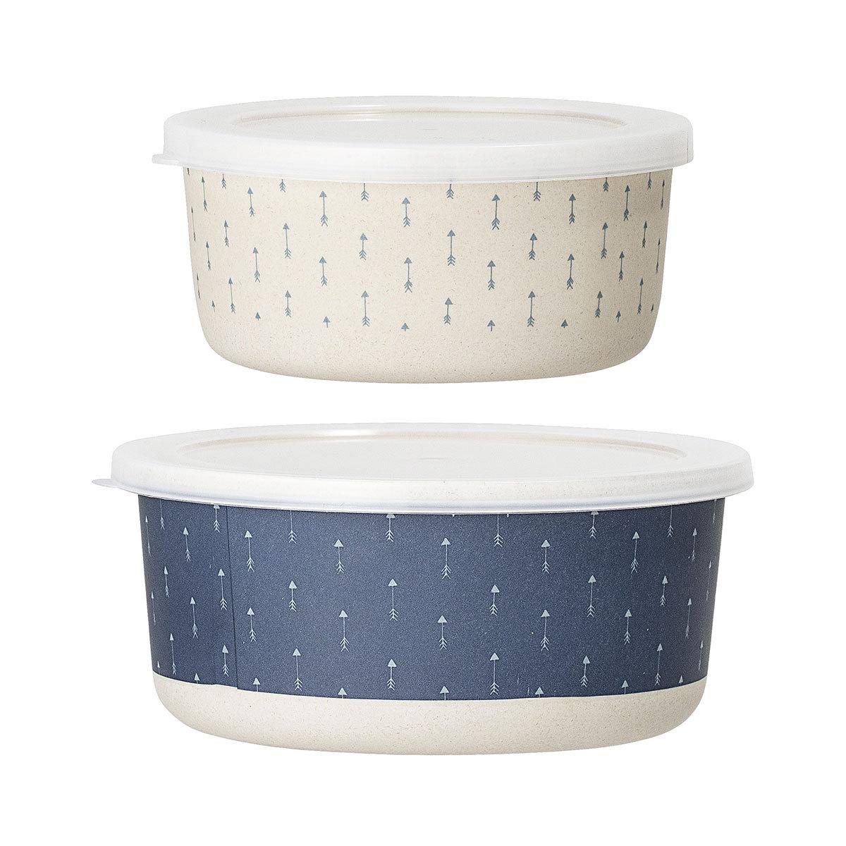 Vaisselle & Couvert Lot de 2 Box Bamboo Bleu Lot de 2 Box Bamboo Bleu