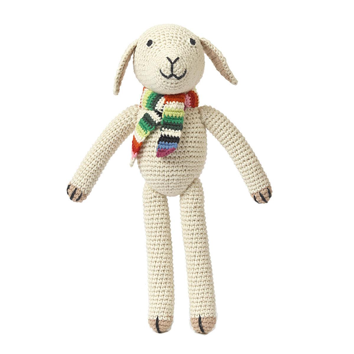 Peluche Peluche Mouton en Crochet 28 cm Peluche Mouton en Crochet 28 cm