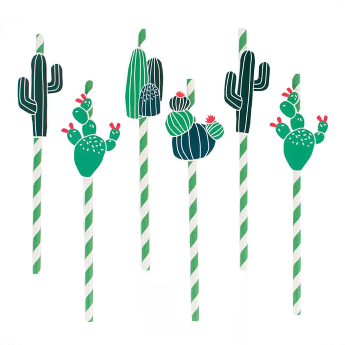 Anniversaire & Fête Lot de 12 Pailles Cactus Lot de 12 Pailles Cactus