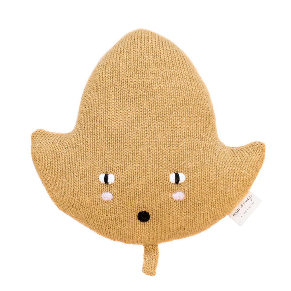 Doudou Mini Leaf Cushion Mustard Mini Leaf Cushion Mustard
