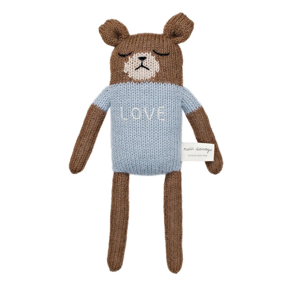 Doudou Soft Toy Teddy Blue Soft Toy Teddy Blue