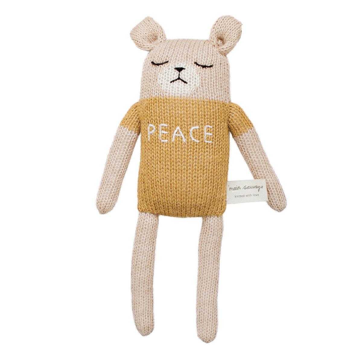 Doudou Soft Toy Teddy Mustard
