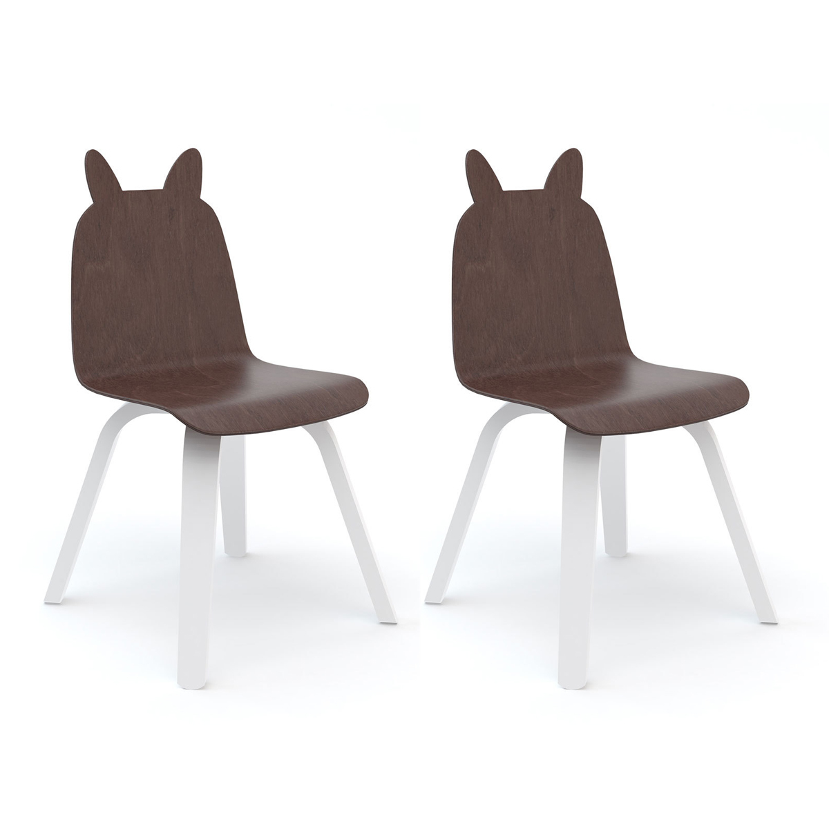Table & Chaise Lot de 2 Chaises Play Lapin - Noyer Lot de 2 Chaises Play Lapin - Noyer