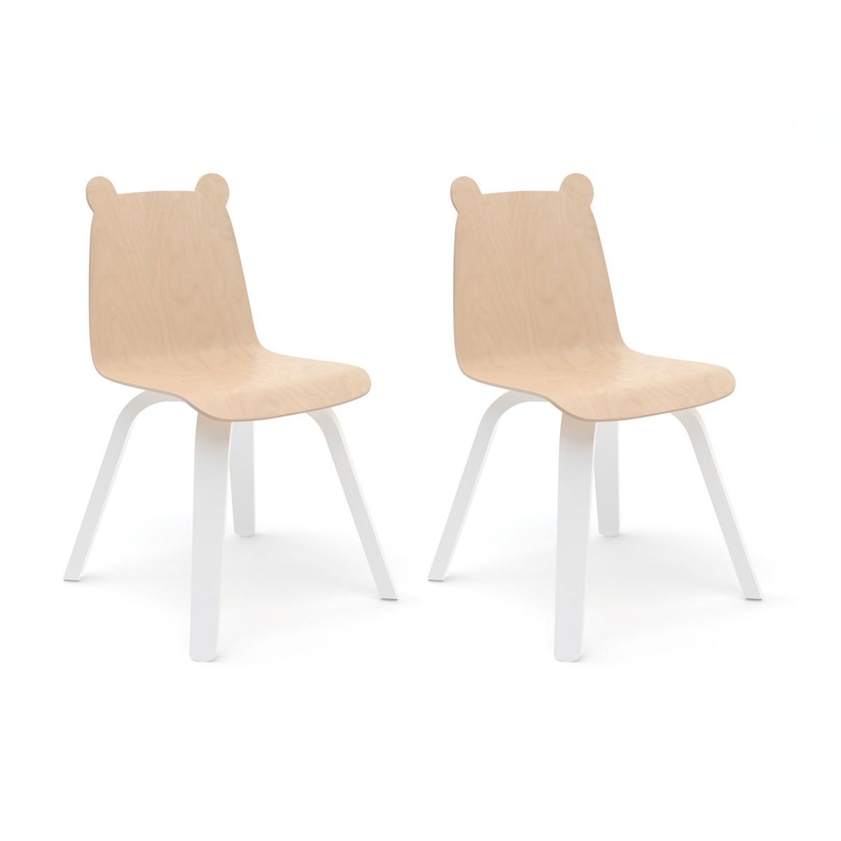 Table & Chaise Lot de 2 Chaises Play Ours - Bouleau