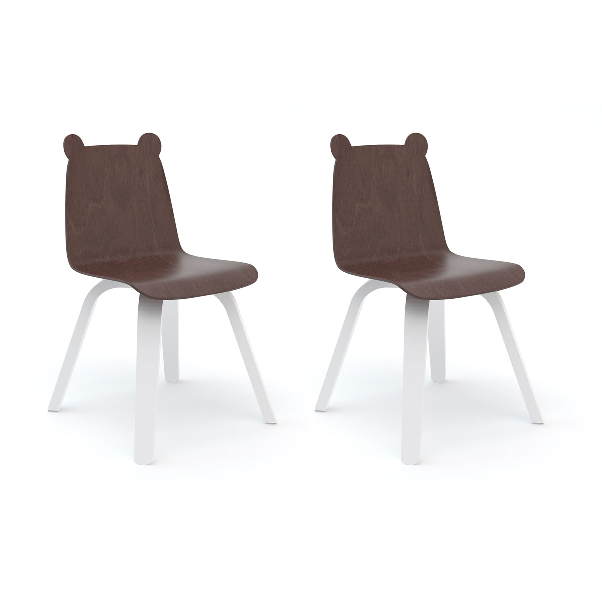 Table & Chaise Lot de 2 Chaises Play Ours - Noyer Lot de 2 Chaises Play Ours - Noyer