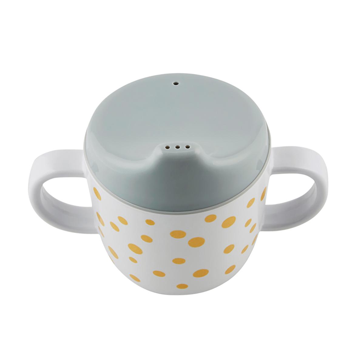 Tasse & Verre Tasse d'apprentissage - Dots - Or / Gris Tasse d'apprentissage - Dots - Or / Gris
