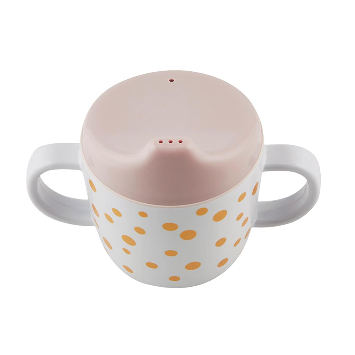 Tasse & Verre Tasse d'apprentissage - Dots - Or / Rose Tasse d'apprentissage - Dots - Or / Rose