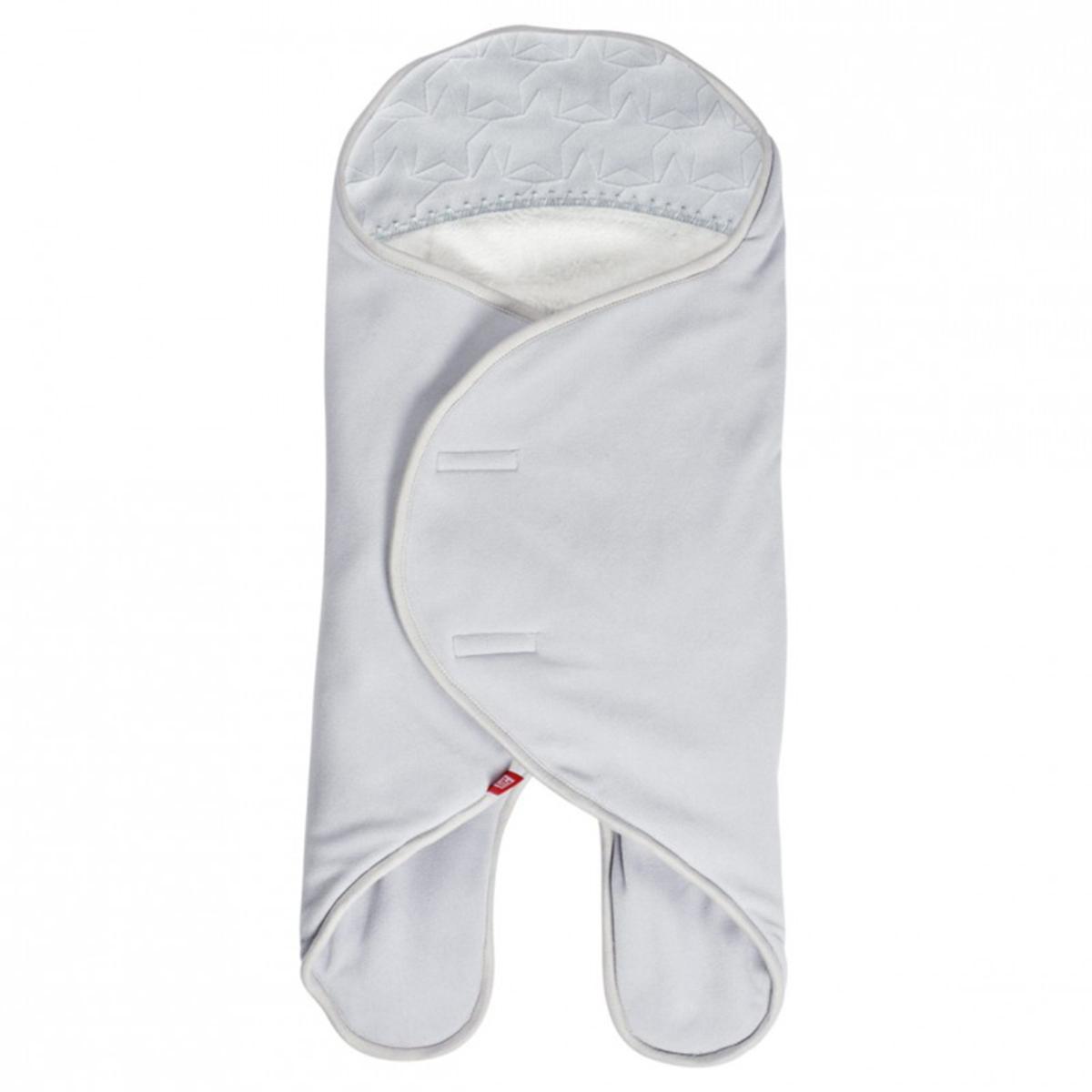 Chancelière Babynomade Double Polaire Gris Perle et Blanc - 0/6 Mois
