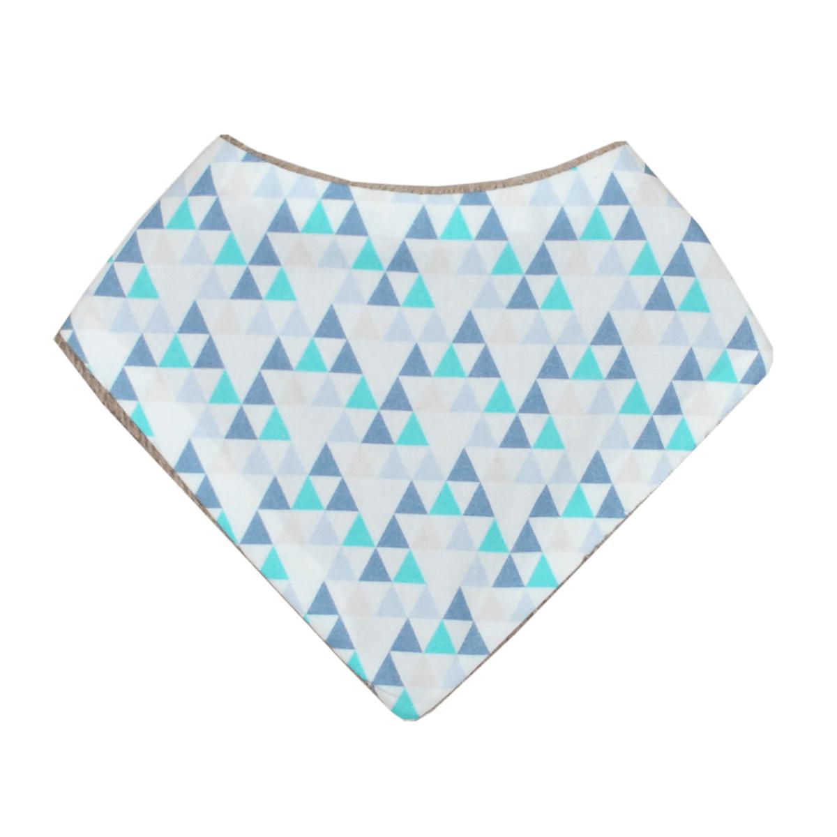 Bavoir Mini Bavoir Triangles Bleus Mini Bavoir Triangles Bleus