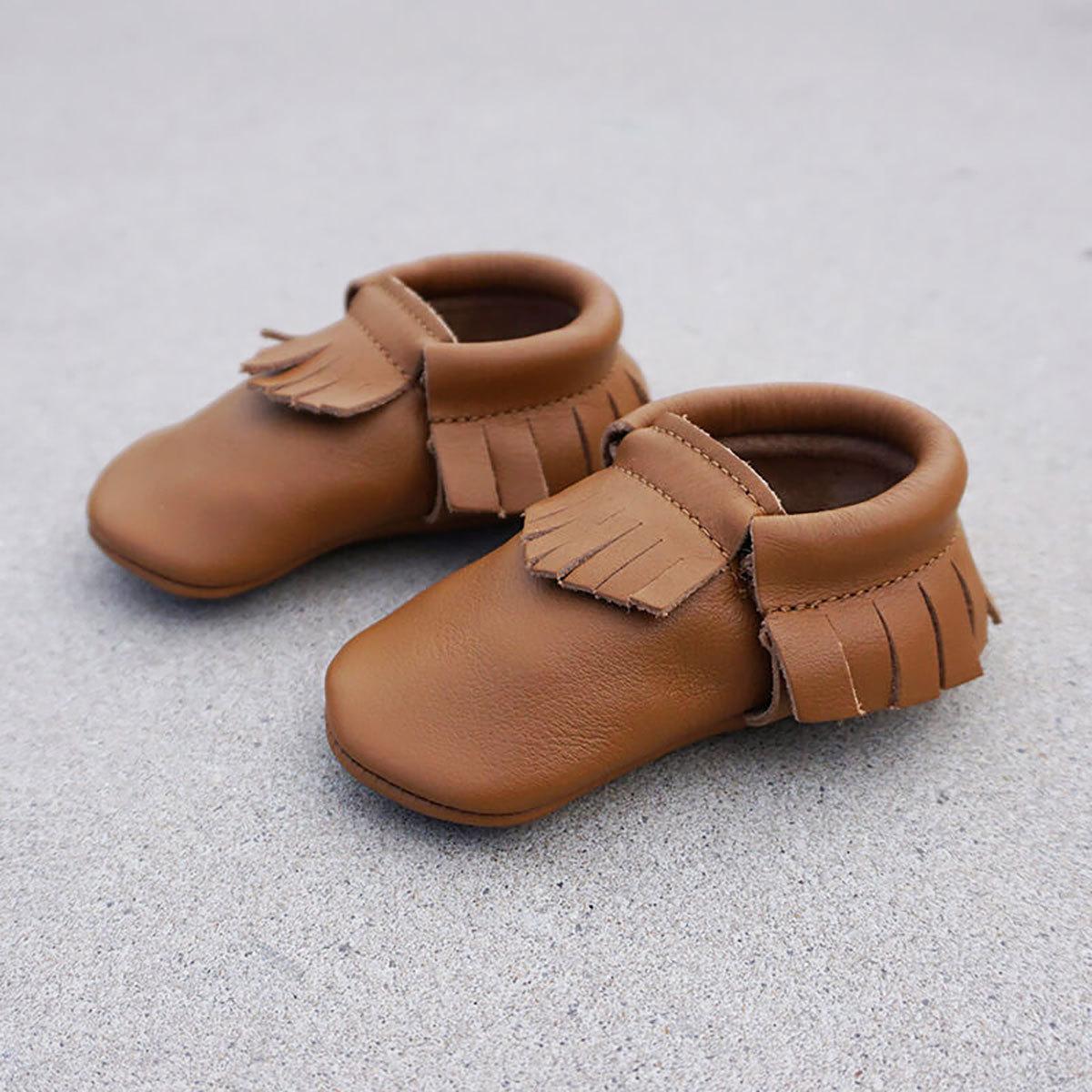 Chaussons & Chaussures Mocassins - Camel - 6/12 Mois Mocassins - Camel - 6/12 Mois