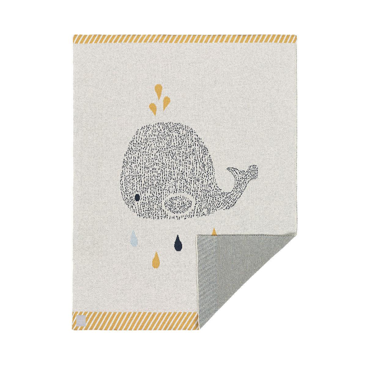 Linge de lit Couverture Little Water - Baleine Couverture Little Water - Baleine