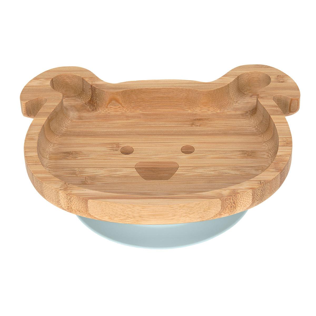 Vaisselle & Couvert Assiette en Bois de Bambou Little Chums - Chien