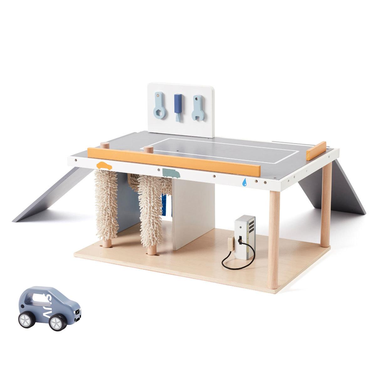Mes premiers jouets Station Service et Voiture SUV en Bois Station Service et Voiture SUV en Bois