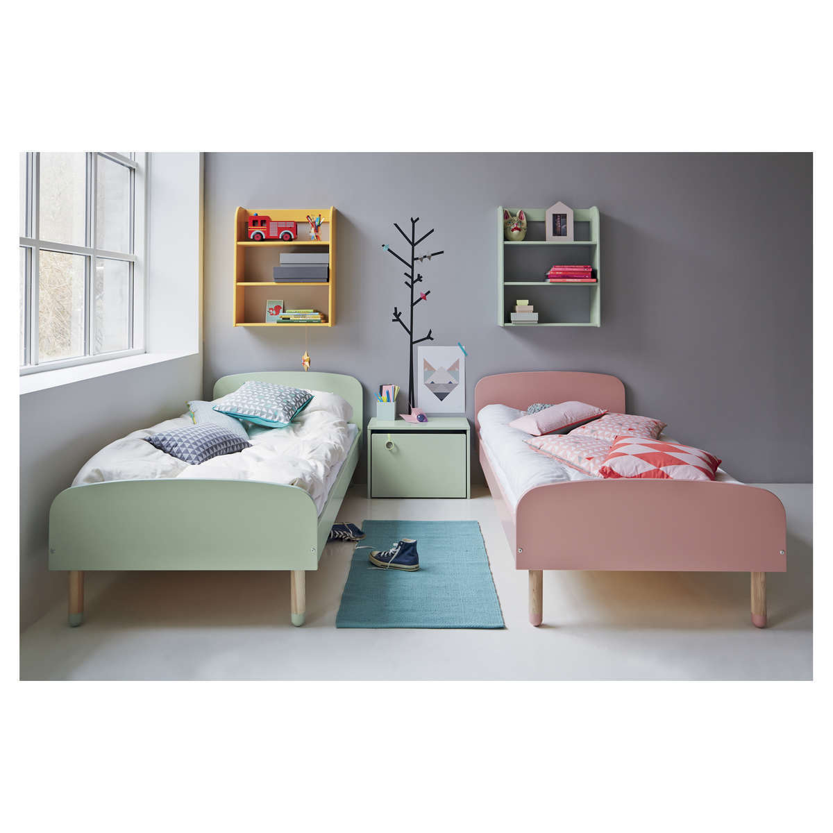 flexa coffre de rangement play menthe rangement jouet. Black Bedroom Furniture Sets. Home Design Ideas