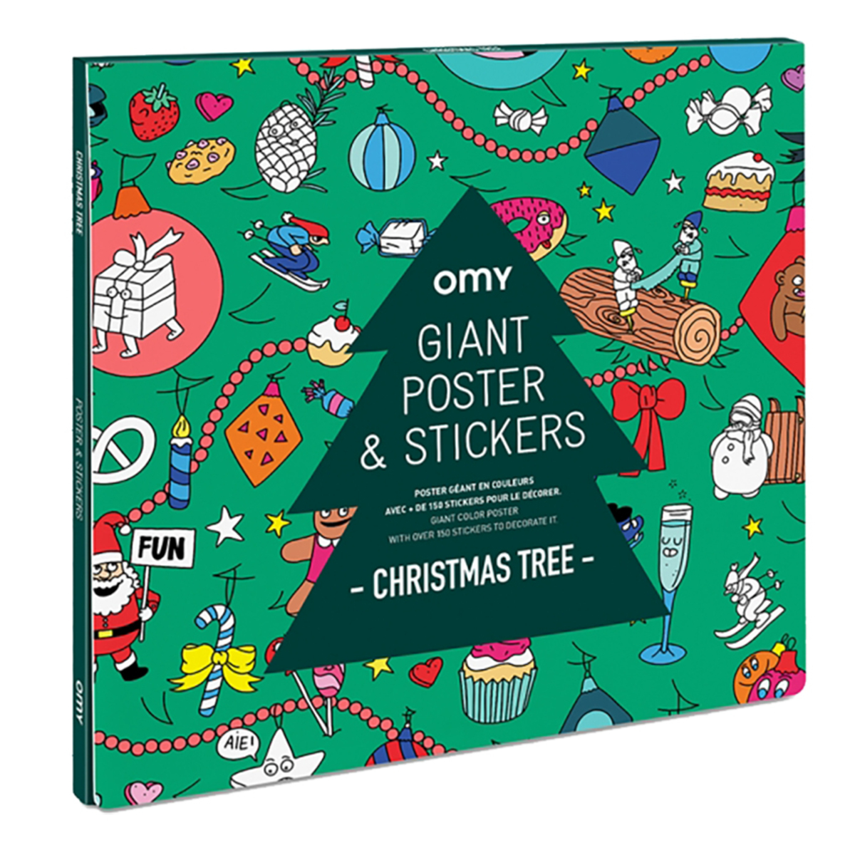 Livre & Carte Poster Géant à Colorier et Stickers - Christmas Tree