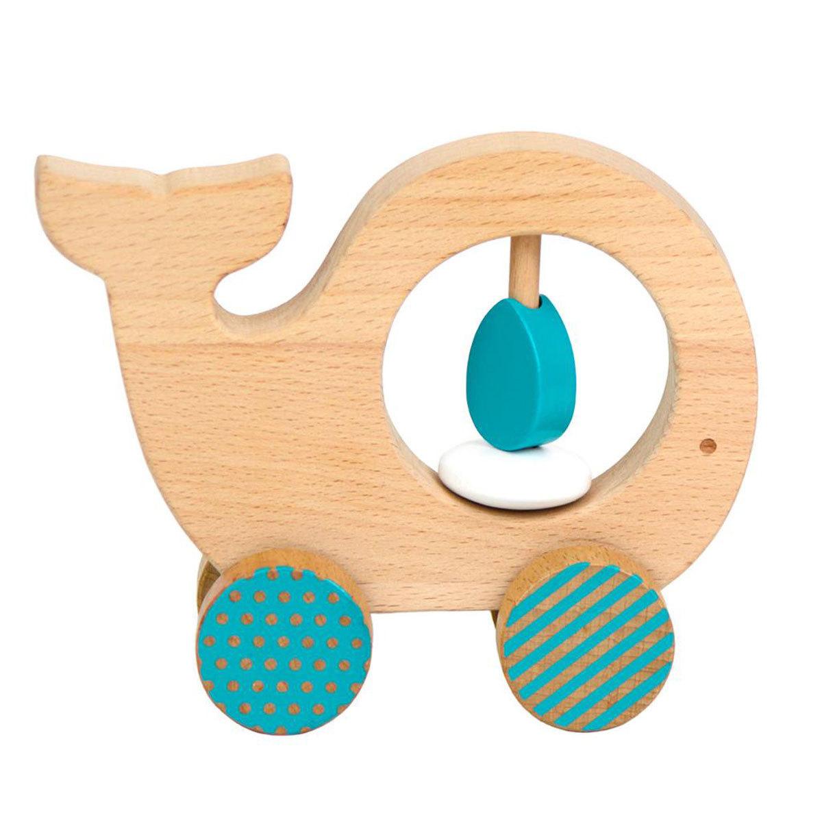 Mes premiers jouets Animal à Pousser en Bois - Baleine Animal à Pousser en Bois - Baleine