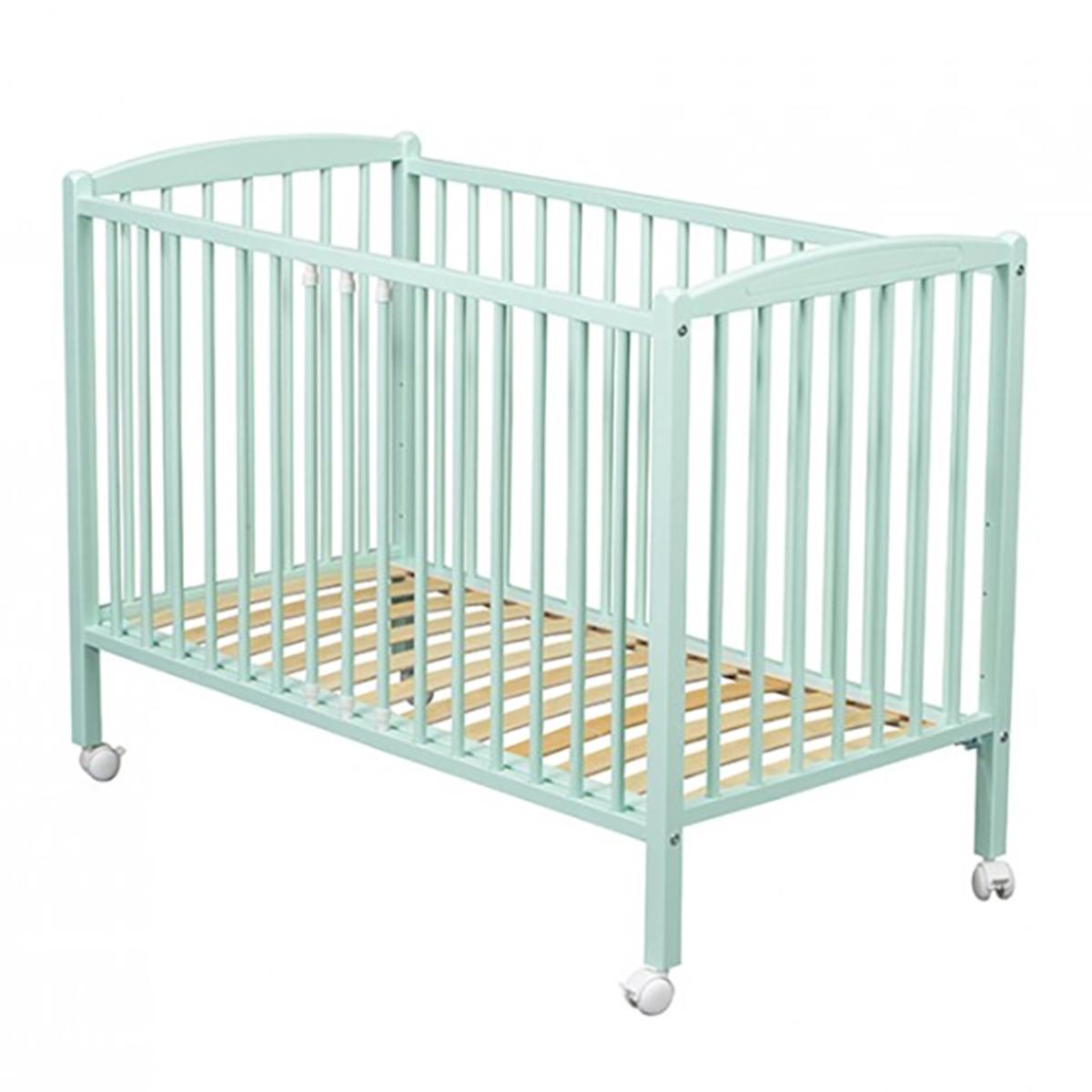 combelle lit b b arthur vert menthe 70 x 140 cm lit b b combelle sur l 39 armoire de b b. Black Bedroom Furniture Sets. Home Design Ideas