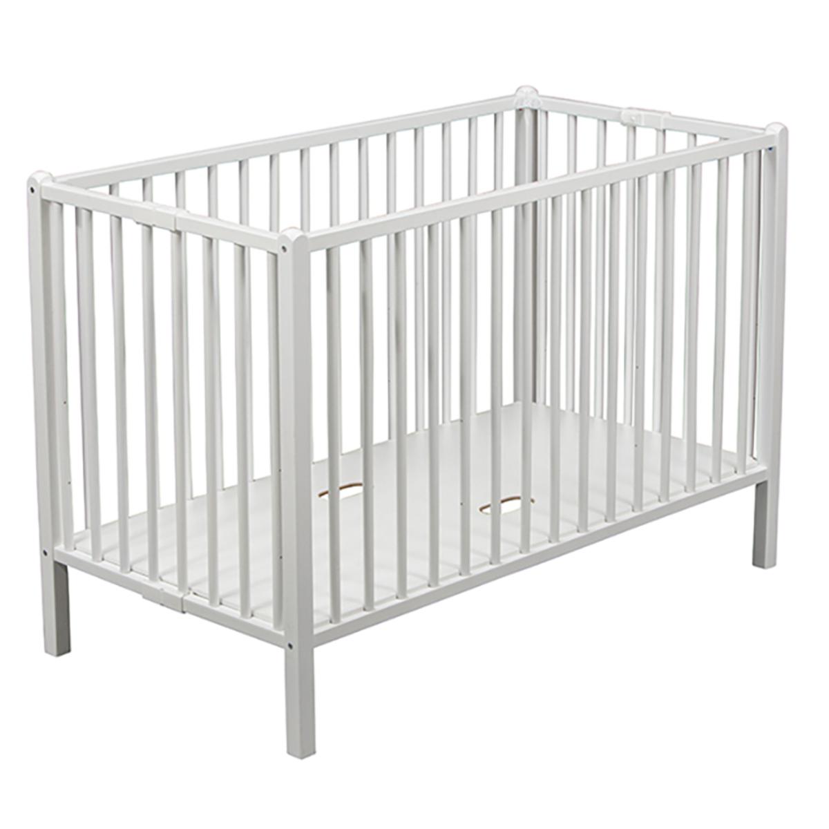 Lit bébé Lit Bébé Pliant Roméo Blanc - 60 x 120 cm Lit Bébé Pliant Roméo Blanc - 60 x 120 cm
