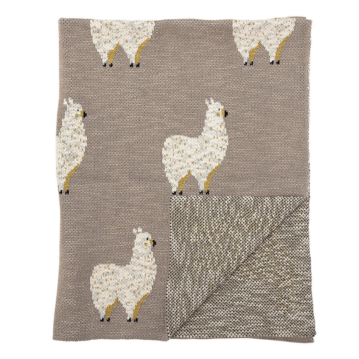 Linge de lit Couverture Coton Lama Couverture Coton Lama