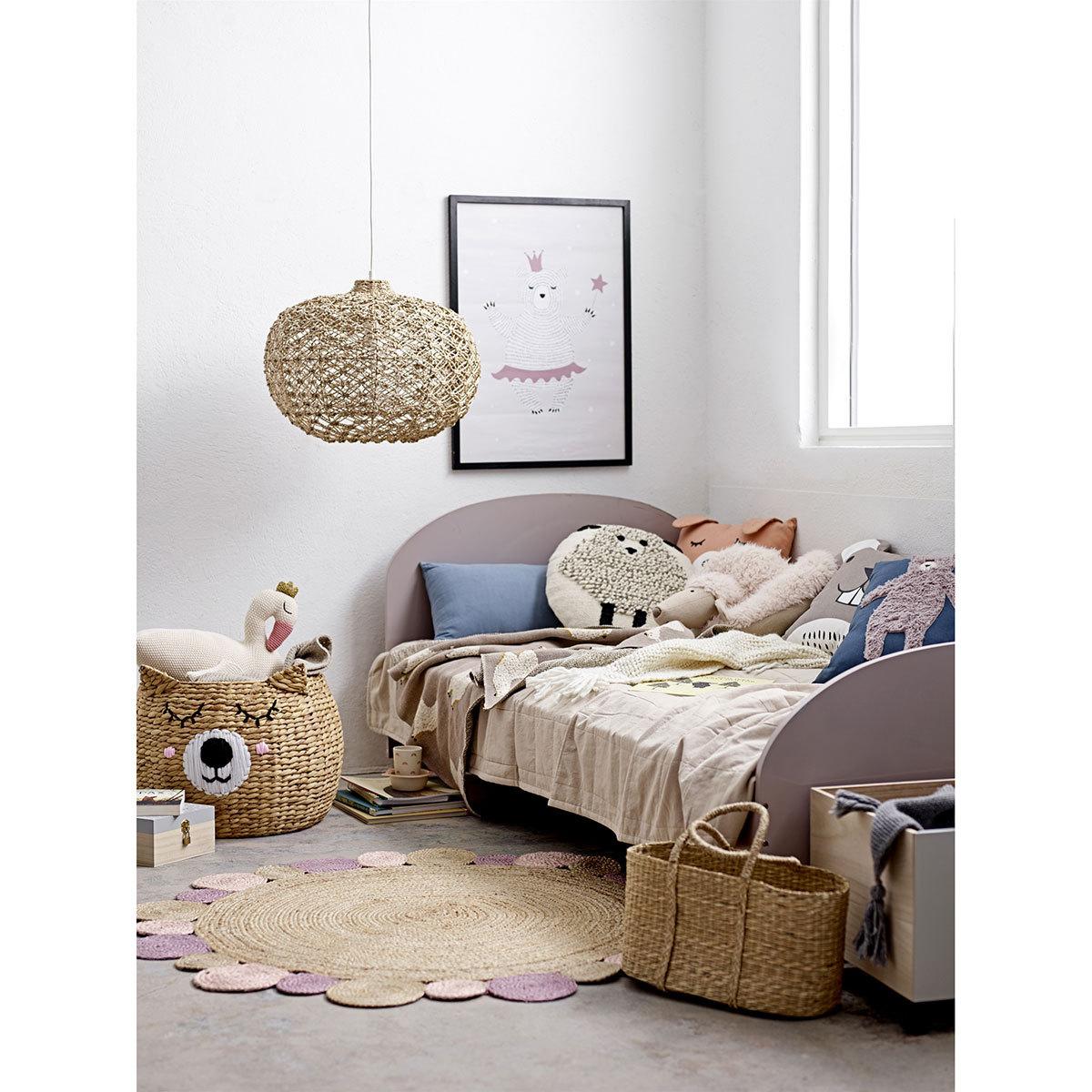 bloomingville couverture coton lama linge de lit. Black Bedroom Furniture Sets. Home Design Ideas