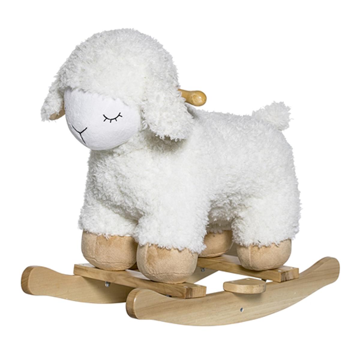 Trotteur & Porteur Mouton à Bascule - Blanc