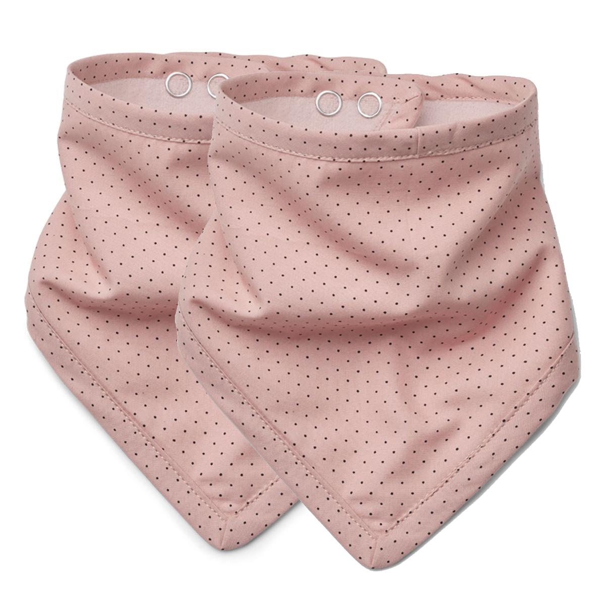 Bavoir Lot de 2 Bavoirs Johanne - Little Dots Rose Lot de 2 Bavoirs Johanne - Little Dots Rose