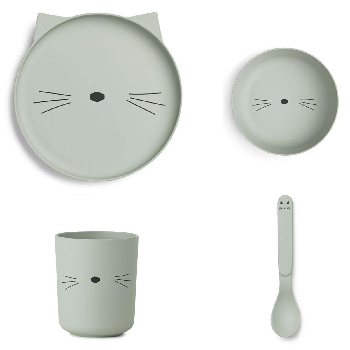 Coffret repas Set de vaisselle Cat - Menthe Set de vaisselle Cat - Menthe