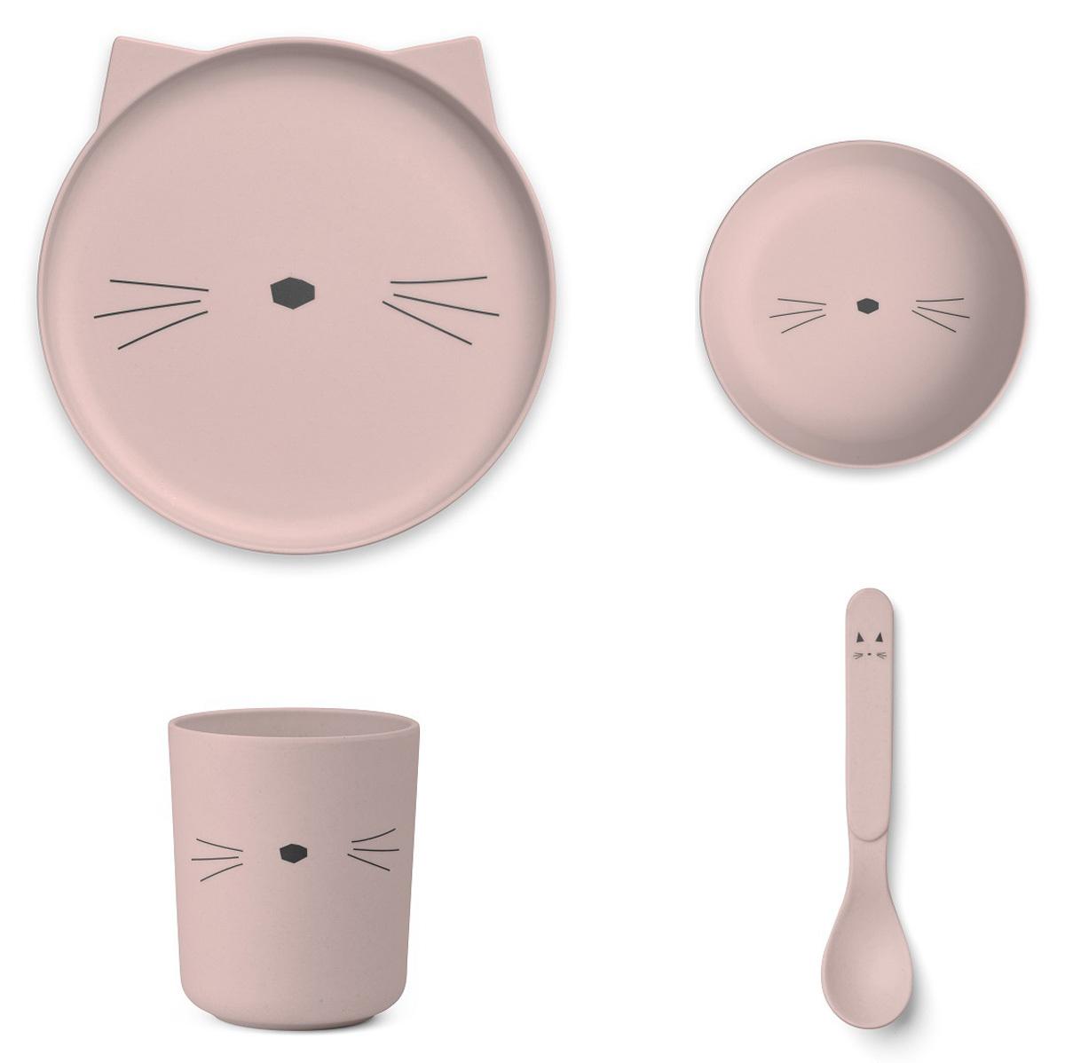 Coffret repas Set de vaisselle Cat - Rose Set de vaisselle Cat - Rose