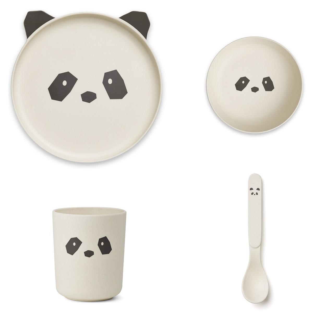 Coffret repas Set de Vaisselle Panda - Crème de la Crème Set de Vaisselle Panda - Crème de la Crème