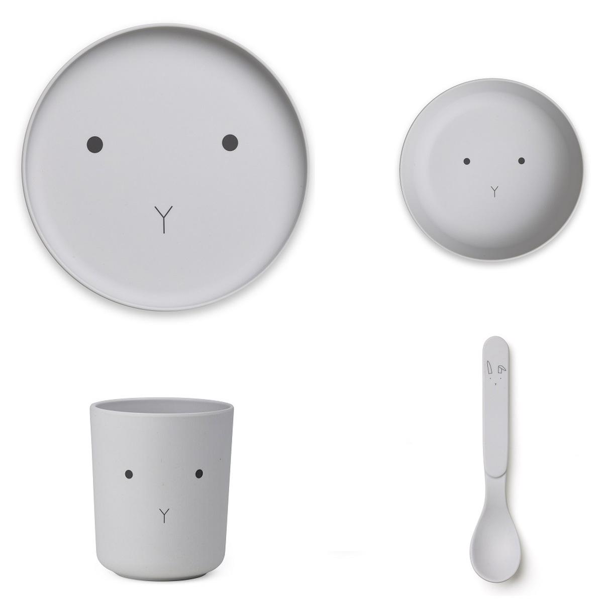 Coffret repas Set de Vaisselle Rabbit - Dumbo Grey Set de Vaisselle Rabbit - Dumbo Grey