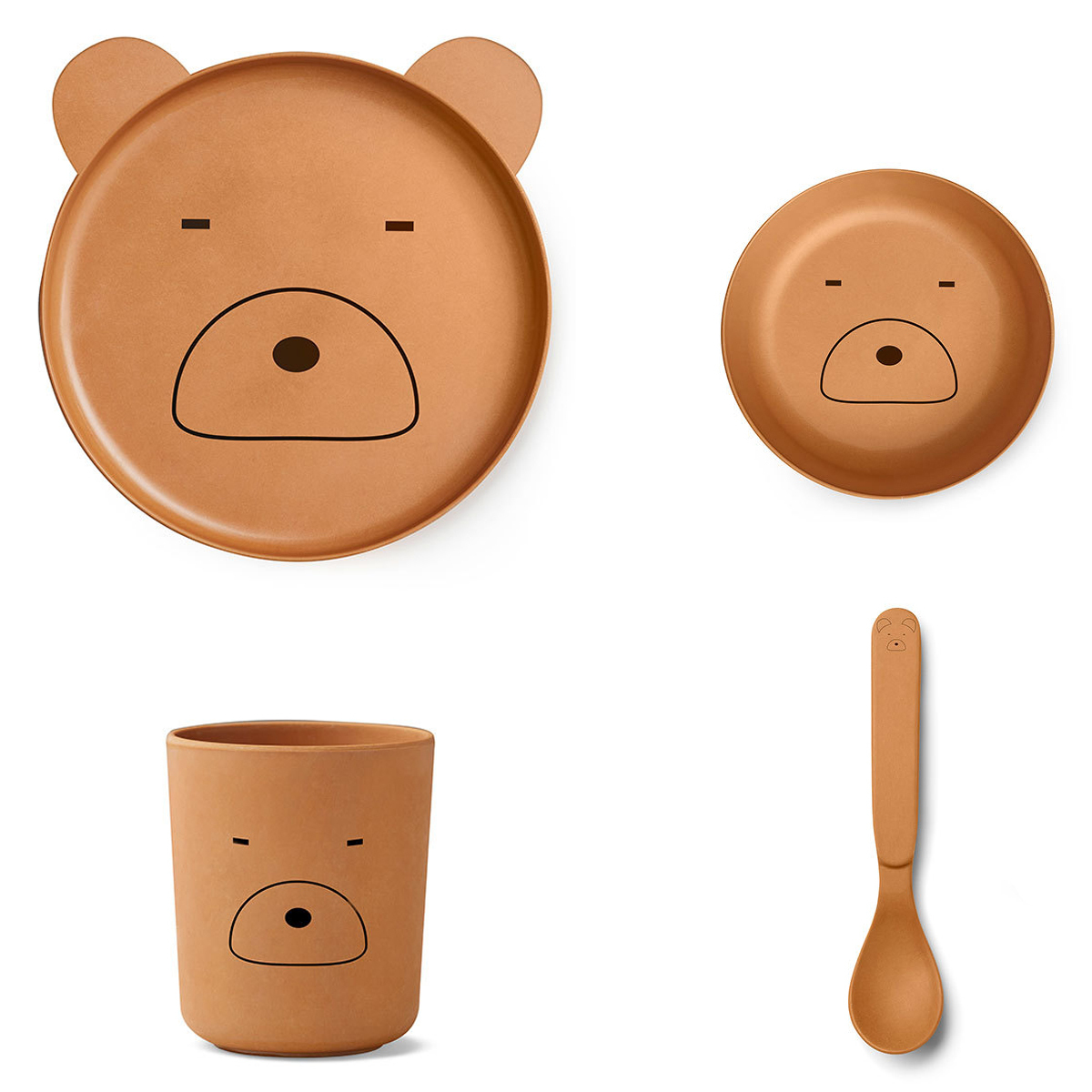 Coffret repas Set de vaisselle Mr. Bear - Moutarde Set de vaisselle Mr. Bear - Moutarde