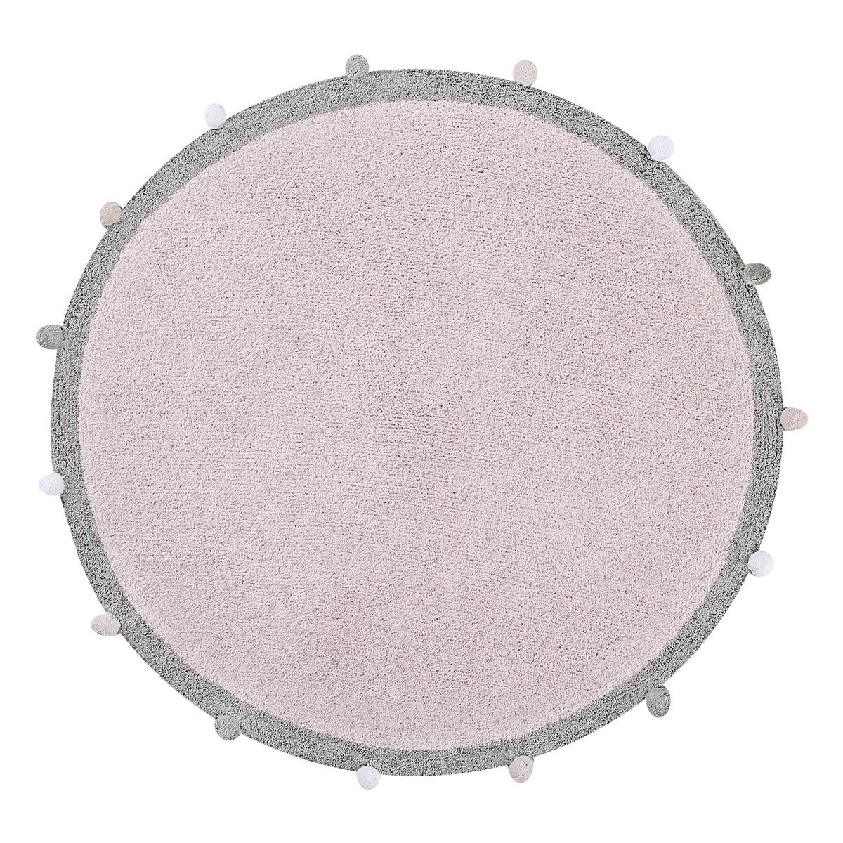 Tapis Tapis Lavable Bubbly Rose - Ø 120 cm