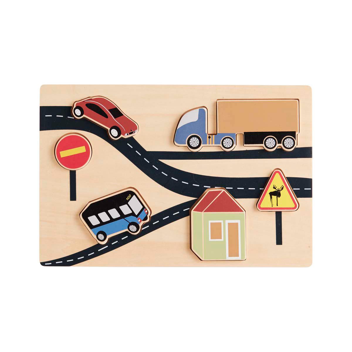 Mes premiers jouets Puzzle Encastrable Aiden - La Route  Puzzle Encastrable Aiden - La Route