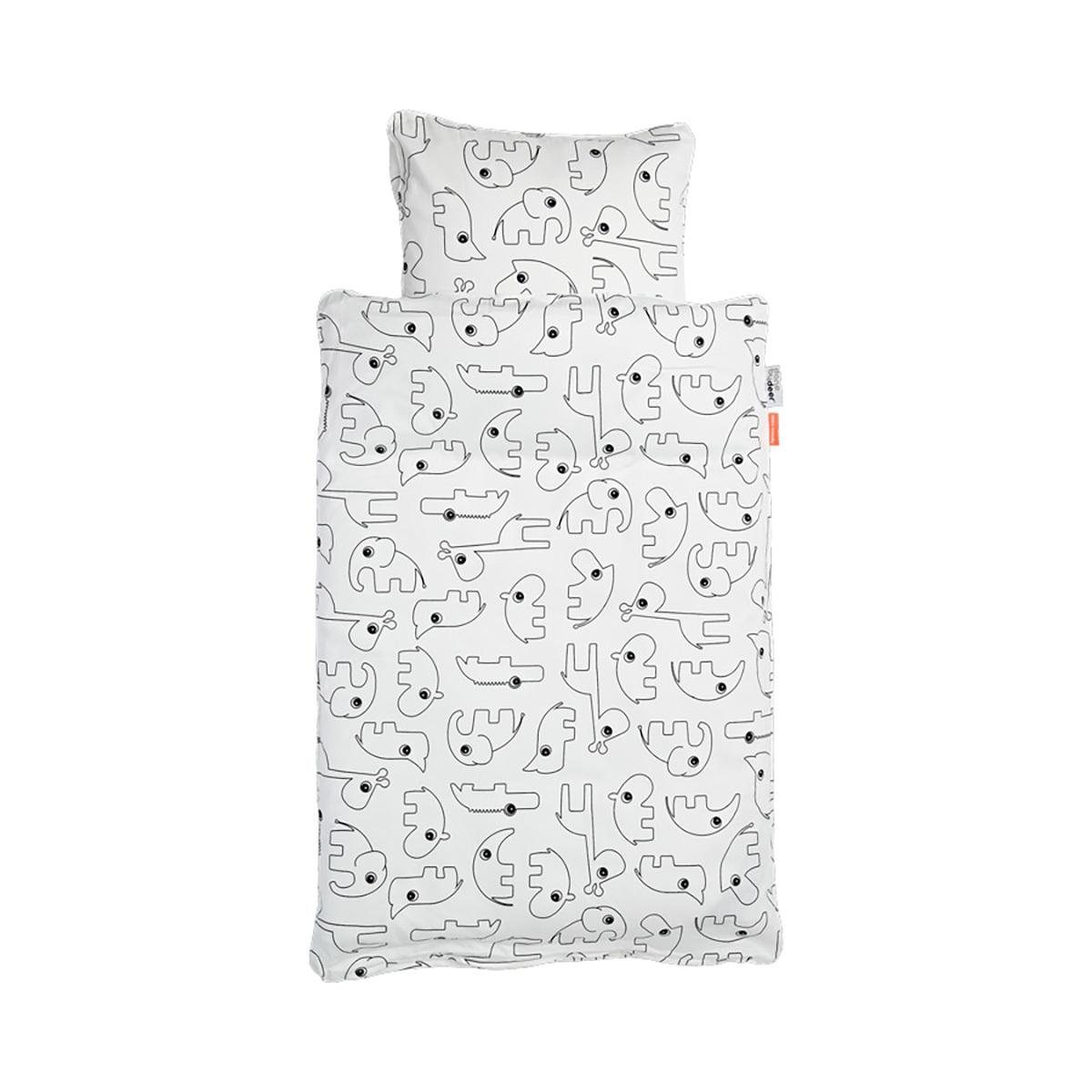 Linge de lit Parure de Lit Contour Blanc - 100 x 140 cm