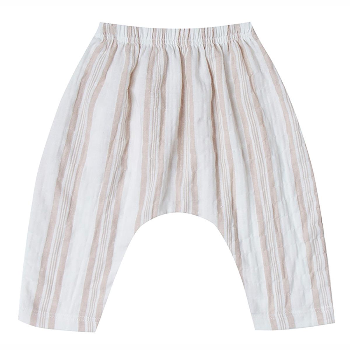Bas bébé Pantalon à Rayures - Sand - 3/6 Mois