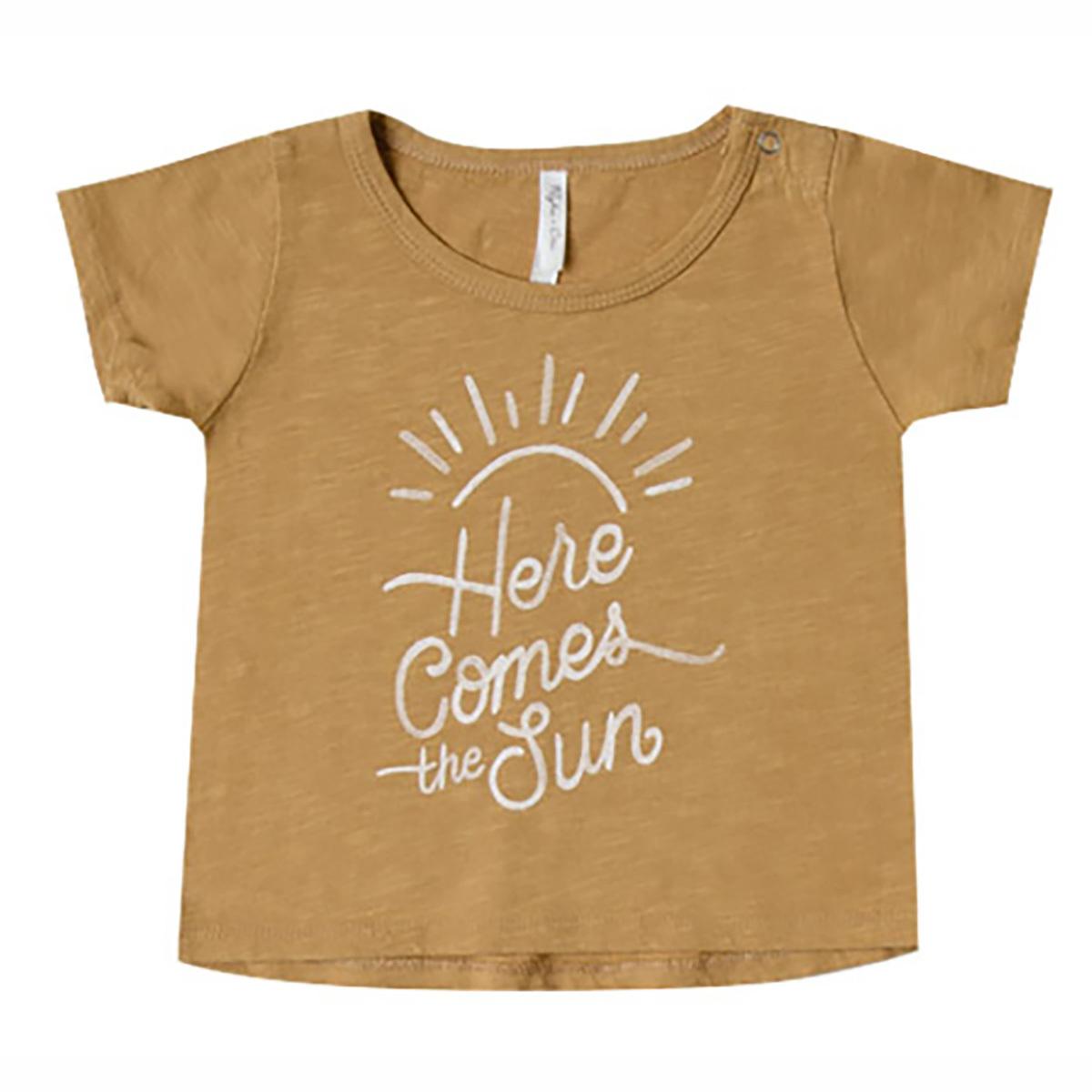 Haut bébé T-Shirt Here Come the Sun - Moutarde - 18/24 Mois T-Shirt Here Come the Sun - Moutarde - 18/24 Mois