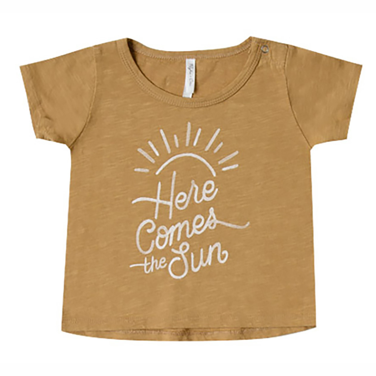 Hauts bébé T-Shirt Here Come the Sun - Moutarde - 3/6 Mois