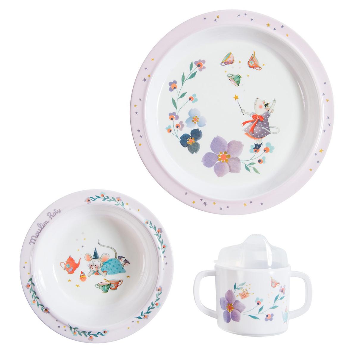 Coffret repas Set Vaisselle 3 Pièces - Il Etait Une Fois Moulin Roty - AR201901230036