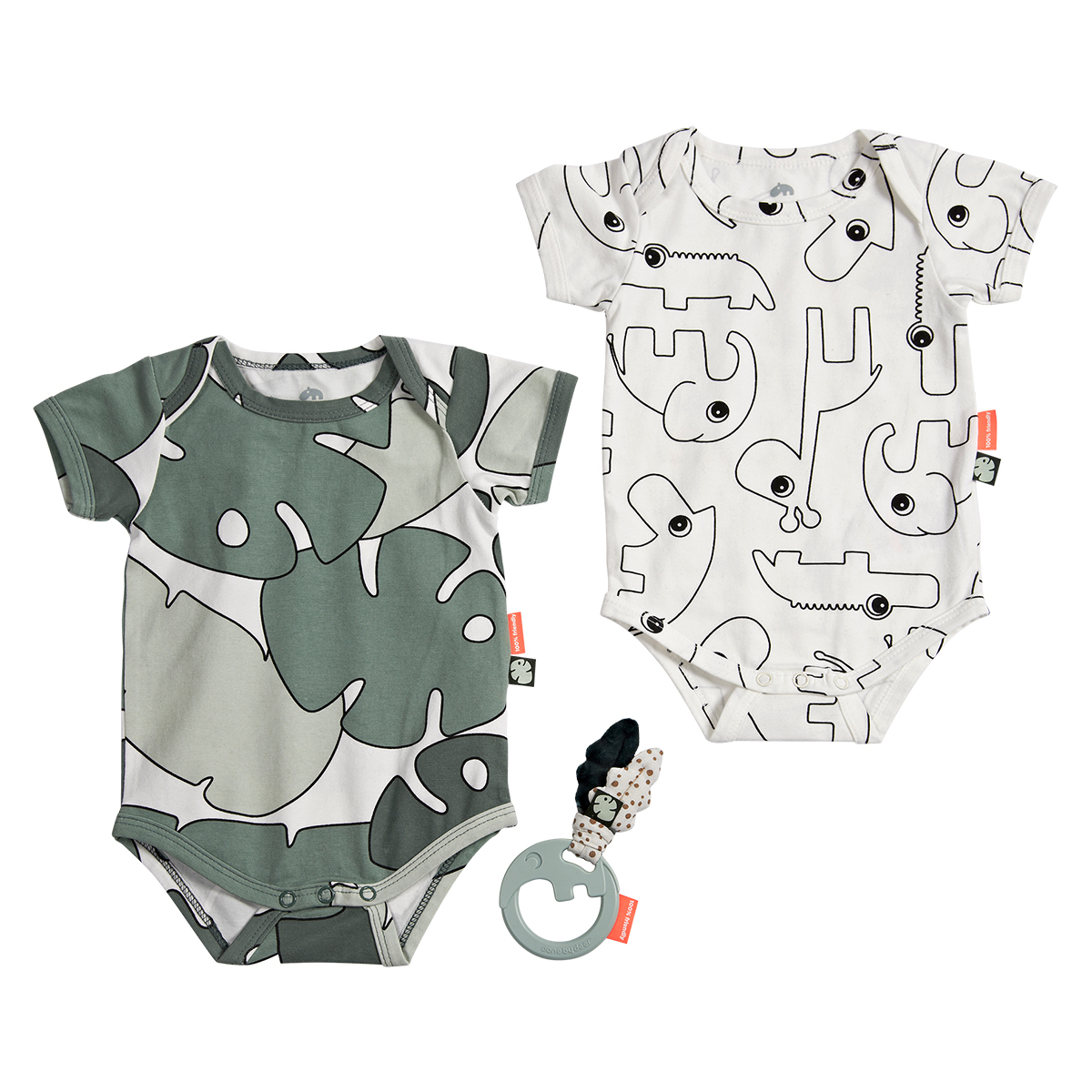 Body & Pyjama Lot de 2 Bodys + Hochet Tiny Tropics - 0-3 mois (56/62cm) Lot de 2 Bodys + Hochet Tiny Tropics - 0-3 mois (56/62cm)