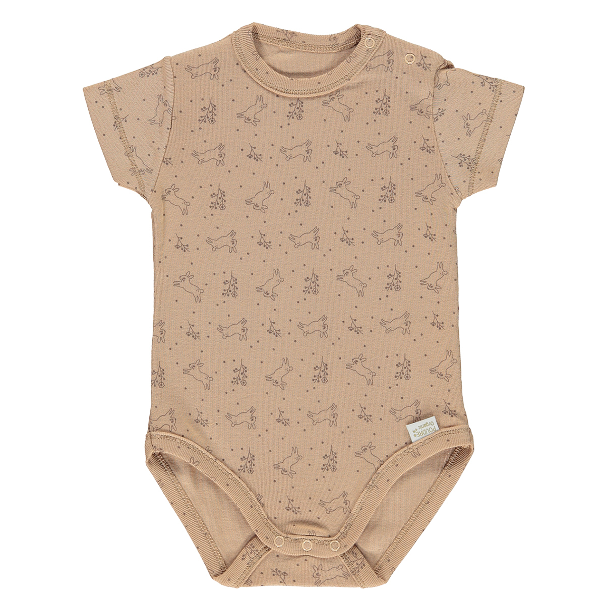 Body & Pyjama Body Manches Courtes Aloes Indian Tan et Motifs - 3 Mois Body Manches Courtes Aloes Indian Tan et Motifs - 3 Mois
